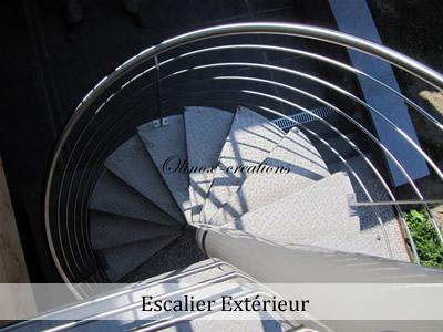 Fabricant d'escalier en inox pour extérieur