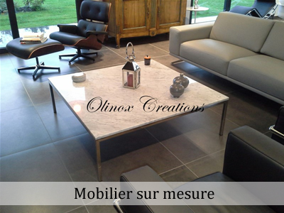 Création de mobilier en inox sur mesure