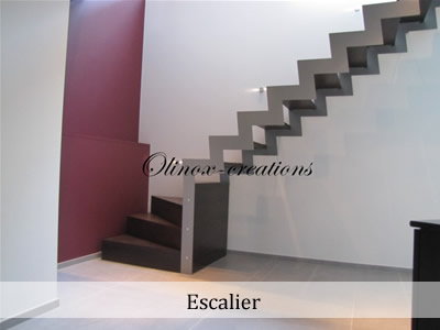 escalier en inox design garde corps en m tal sur mesure. Black Bedroom Furniture Sets. Home Design Ideas