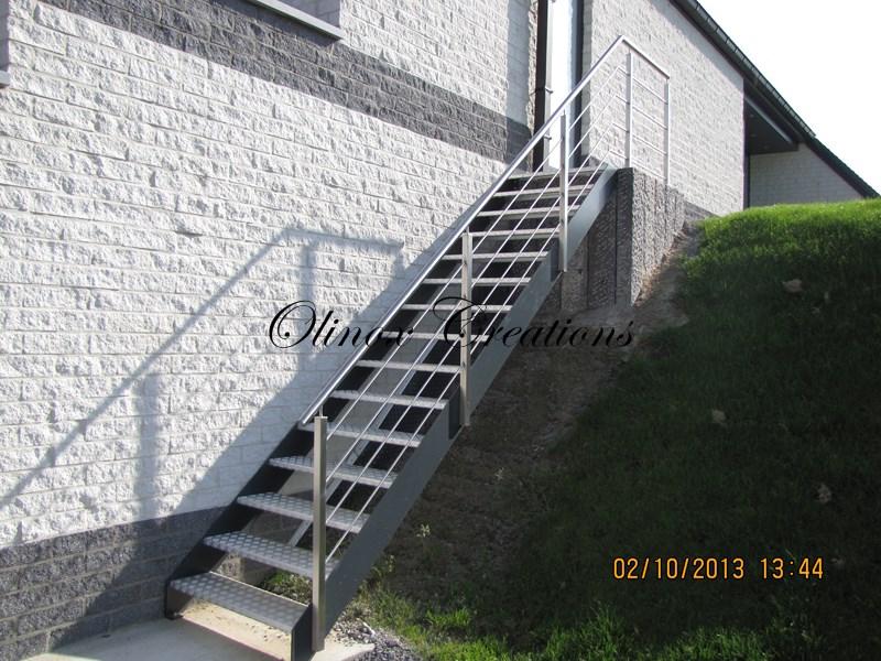 escalier hainaut fabrication et pose par olinox. Black Bedroom Furniture Sets. Home Design Ideas