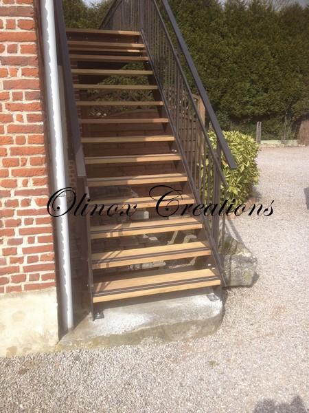 escalier exterieur nord