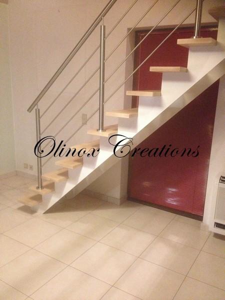 Nouveautes escaliers par olinox cr ations for Balustrade bois interieur