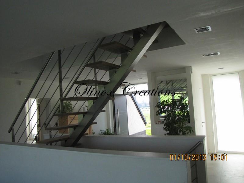 Escalier hainaut fabrication et pose par olinox for Limon escalier interieur