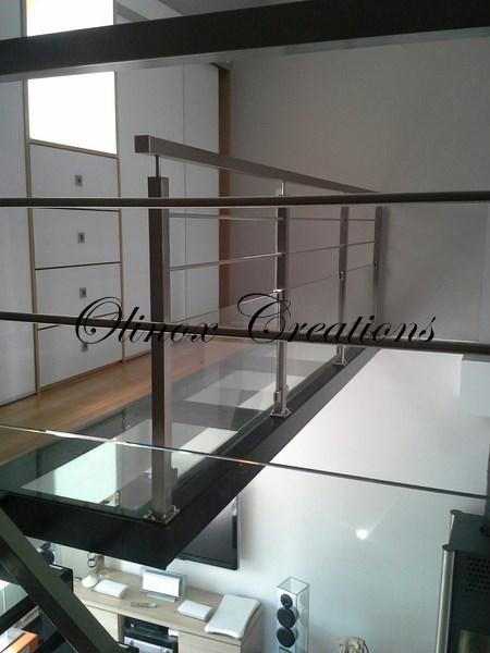 rampe d escalier int rieur et garde corps design sur mesure. Black Bedroom Furniture Sets. Home Design Ideas