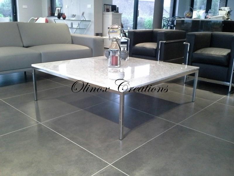 Mobilier sur mesure – Desserte en inox, table basse métal