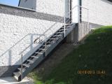Escalier extérieur marches alu