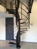 Escalier colimaçon tout métal