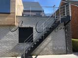 Escalier extérieur métal et inox