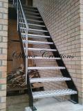 Escalier droit marches Alu