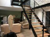 Structure escalier métal et verre