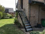 Escalier droit marches Alu Larmé