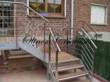 Escalier marches en Merbaux avec Antidérapant Alu