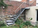 Escalier quart tournant extérieur