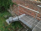 Escalier avec palier de réception résine