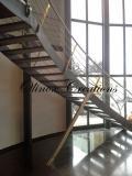 Escalier marches en pierre bleu
