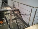 Escalier d'intérieur métal et bois