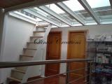Escalier meunier sur mezzanine