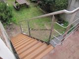 Escalier extérieur marches avec anti dérapant
