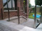 Garde corps en verre pour terrasse