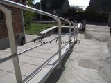 Rampe avec garde corps inox www.olinox-creations.com