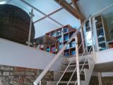 Garde corps métal et verre avec escalier
