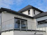 Garde corps verre transparent et inox sur balcon