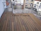 Terrasse avec garde corps inox et tôle