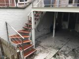 Terrasse avec escalier quart tournant