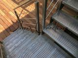 Escalier quart tournant structure inox