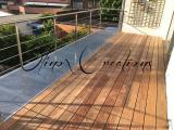 Terrasse en bois et acier inoxydable