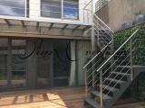 Terrasse en bois et Escalier en inox
