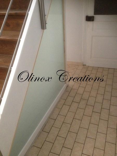 paroi porte et garde corps en verre cr ation sur mesure. Black Bedroom Furniture Sets. Home Design Ideas