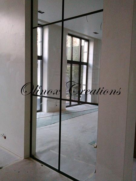 paroi porte et garde corps en verre cr ation sur mesure nord et hainaut. Black Bedroom Furniture Sets. Home Design Ideas